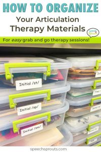 How to organize Your speech therapy materials for grab and go articulation therapy- plus articulation therapy ideas for s-blends
