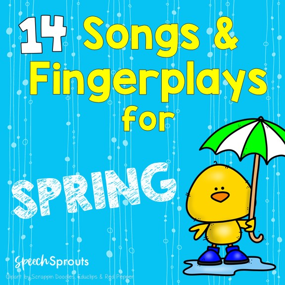 14 Preschool Songs and Fingerplays for spring. with fun themes like ducks rain and weather.