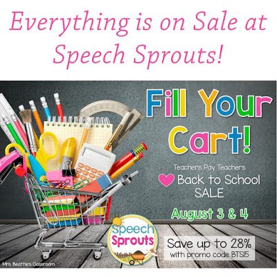 Back to School! 6 Great Activities to Fill Your Cart by Speech Sprouts