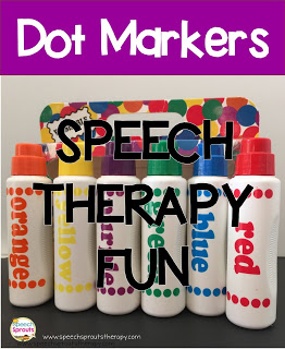 7 Ways to Have Fun with Dot Markers in speech therapy by Speech Sprouts