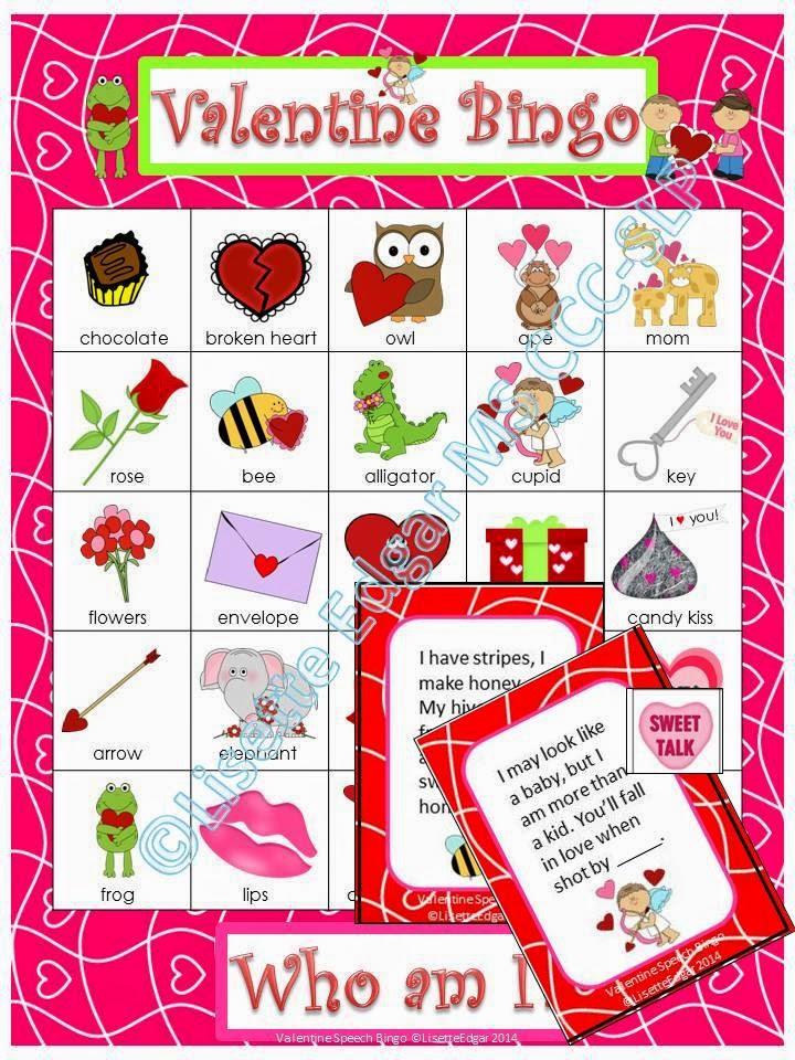 Valentine Bingo riddles from Speech Sprouts www.speechsproutstherapy.com