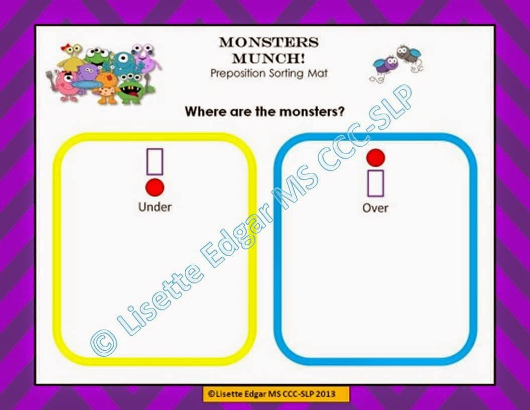 https://www.teacherspayteachers.com/Product/Monsters-Munch-Speech-Therapy-Prepositions-Game-903278