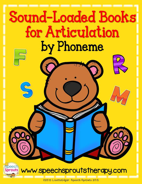 The materials List you need for preschool speech therapy including this FREE list of Sound-loaded story books for articulation sorted by phoneme  #speechsprouts #speechtherapy #speechtherapybooks  #speechtherapymaterials #articulationtherapyactvities #soundloadedbooks