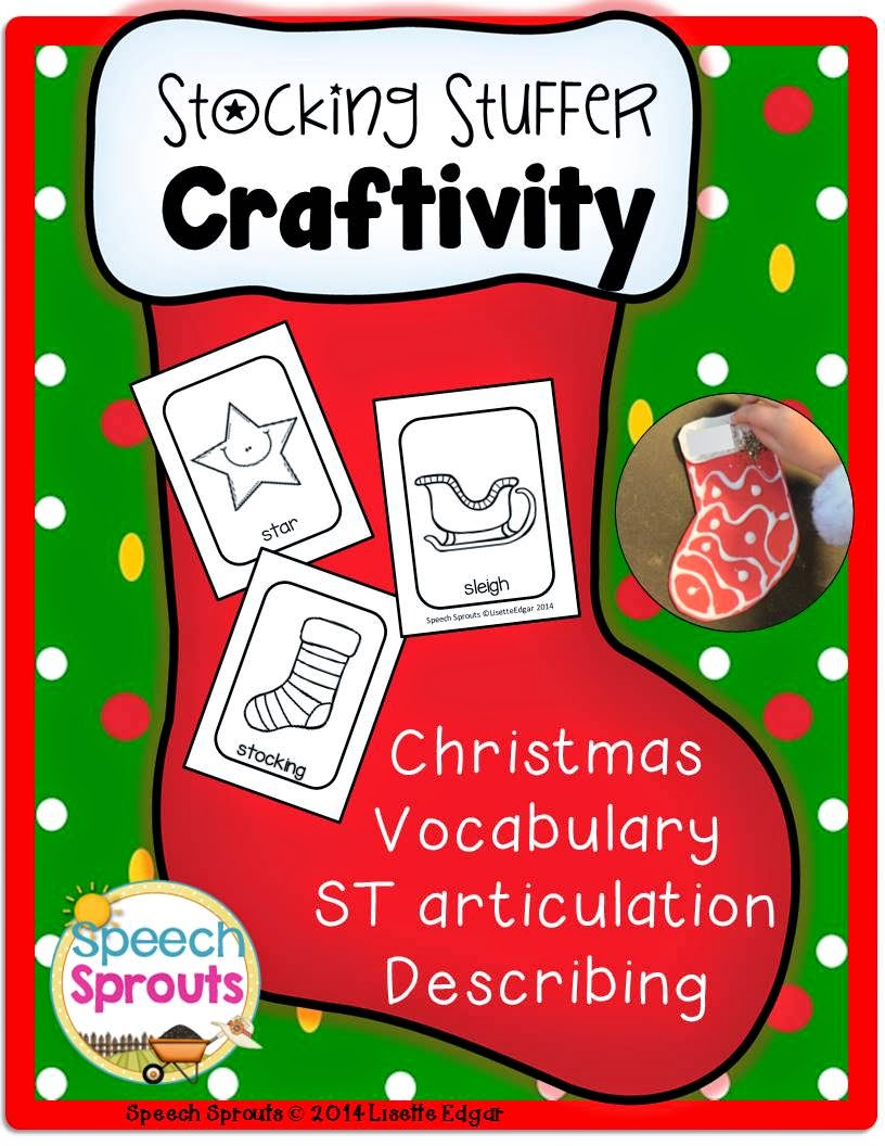 Free Stocking Stuffer Craft for speech therapy
