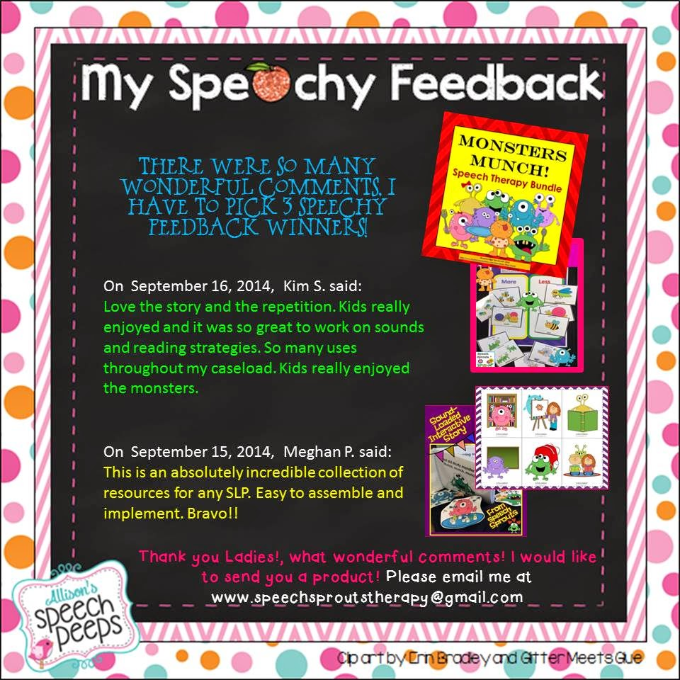 Monsters Munch Speech Therapy Bundle from Speech Sprouts