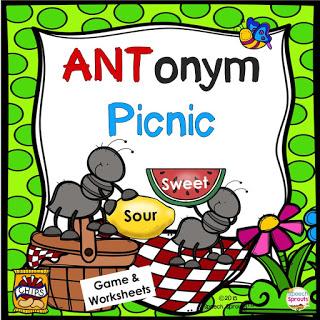 Best Year-End Picks for SLPs: Antonym Picnic www.speechsproutstherapy.com