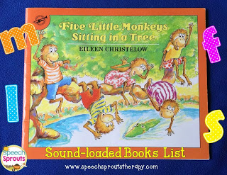 Sound-Loaded Storybooks List www.speechsproutstherapy.com