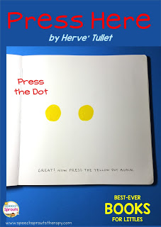 Best-Ever Books for Language Learning with Littles- Press Here www.speechsproutstherapy.com