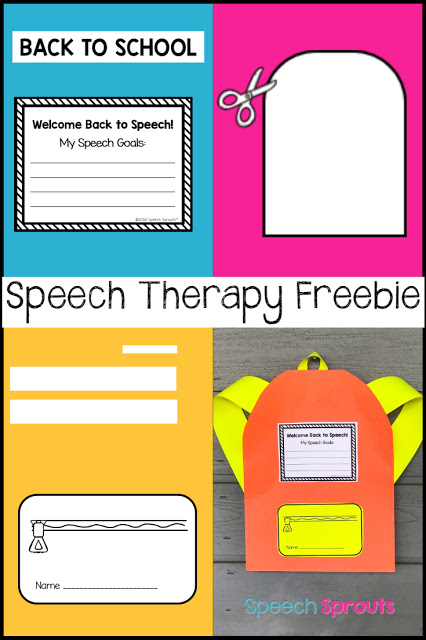 A fun and engaging FREE back to school backpack craft for speech therapy #speechtherapy #backtoschoolcraft