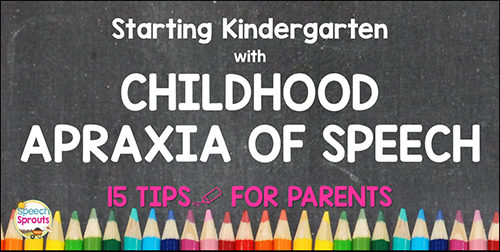 When your child has childhood apraxia of speech (or another speech and language disorder) and it's time for kindergarten. 15 tips for a smooth transition to school-based speech therapy services. www.speechsproutstherapy.com