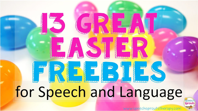 13 Great Easter Freebies for Speech Therapy www.speechsproutstherapy.com