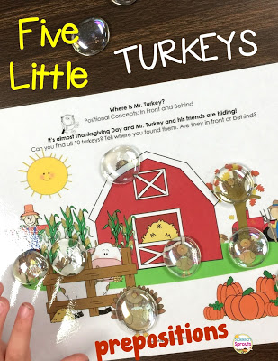 Five Little Turkeys Flipbook and Language Activities www.speechsptoutstherapy.com