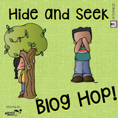 Hide and Seek Bloghop Sept 17-20th. SLPs are hiding all over school! Come find them and enter to win awesome prizes. Hosted by Activity Tailor.