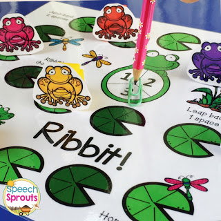 FREE Open-ended game for Spring from Speech Sprouts Ribbet!
