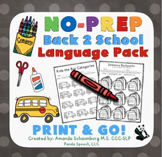 Best Back to School Speech Therapy Activities Ever www.speechsproutstherapy.com