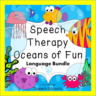 Best Year-End Picks for SLPs:Speech Therapy Oceans of Fun Bundle www.speechsproutstherapy.com