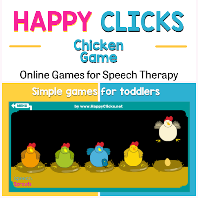 Teletherapy speech therapy activities like these 27 open-ended online games make planning easy! Find easy games for toddlers like the Chicken Game and great games for bigger kids like Frost Bite and Basketball. #speechsprouts #speechtherapygames  #speechtherapy #teletherapy