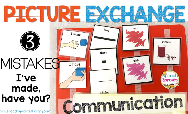 I Made These 3 Mistakes Teaching the Picture Communication System, Have You? www.speechsproutstherapy.com