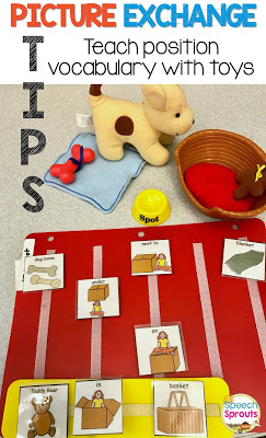 Great Tips on how to teach vocabulary and language skills to students with autism or developmental delays Picture Exchange Communication www.speechsproutstherapy.com