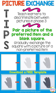 Autism Supports: Free Templates to Easily Create Picture Exchange Cards in PowerPoint www.speechsproutstherapy.com