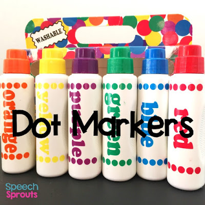 The materials SLPs need for preschool speech therapy plus 10 thrifty tips on how to get them for cheap. www.speechsproutstherapy.com #speechsprouts #speechsprouts #speechtherapy #preschool #backtoschool #speechtherapymaterials