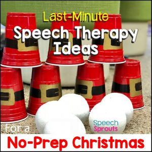 Red plastic cups painted with Santa's belt buckle and stacked make a perfect christmas game for kids. Through the white styrofoam balls to knock them down!