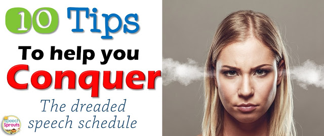 10 Tips for making a speech therapy schedule www.speechsproutstherapy.com