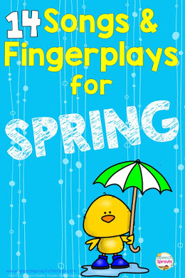 14 preschool songs and fingerplays for spring that are perfect for speech and language therapy  #speechsprouts #speechtherapy #preschool  www.speechsproutstherapy.com