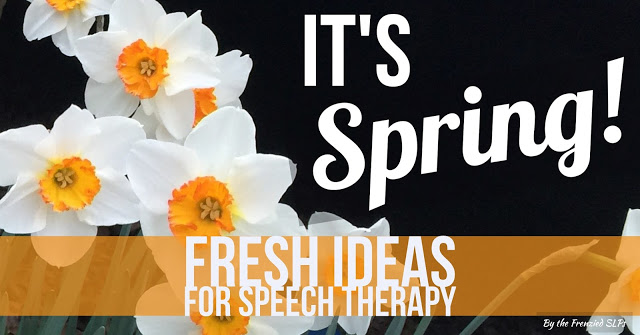 Fresh Spring Speech Therapy Ideas by Speech Sprouts www.speechsproutstherapy.com