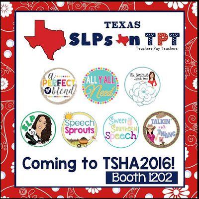 Meet 7 Texas SLP Blogger/ Authors at TSHA! Come by and say hello at booth 1202