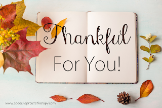 Thankful and Grateful Scavenger Hunt www.speechsproutstherapy.com