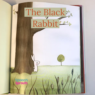 In The Black Rabbit Book a little bunny is hiding from his own shadow! A story book sound-loaded with R for spring speech therapy
