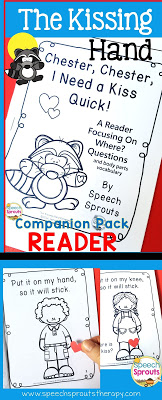 Welcome your speech therapy students back to school with The Kissing Hand and a sweet treat too! Freebie and book companion that includes this adorable reader.www.speechsproutstherapy.com