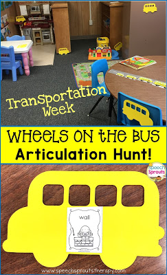 Wheels On The Bus Speech And Language Activities by Speech Sprouts www.speechsproutstherapy.com