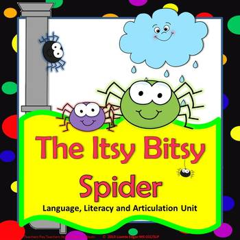 Great Activities to Fill Your Cart by Speech Sprouts-Itsy Bitsy Spider