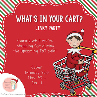 What's in Your Cart? Linky Party www.speechsproutstherapy.com