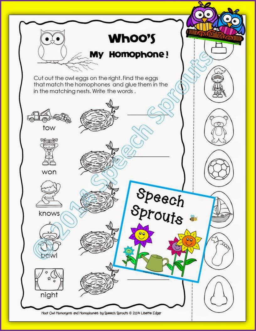 https://www.teacherspayteachers.com/Product/Free-Hoot-Owl-Homonyms-Multiple-Meanings-Speech-Therapy-Freebie-Sampler-1403892